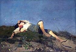 Franz von Lenbach: A shepherd boy