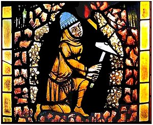 Freiburg Minster - Freiburg Miner, stained glass, circa 1330