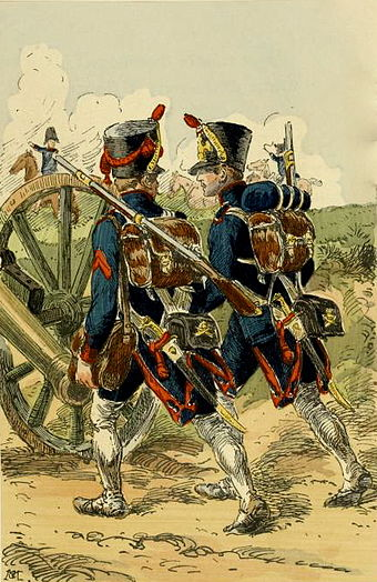 French Artillerymen 1809 French foot artillery 1809.jpeg