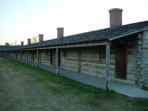 Fort Atkinson (Nebraska) - Detail of (reconstructed) west rampart barracks