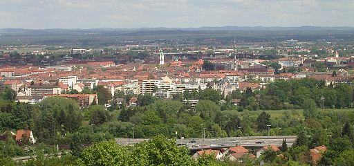 Fuerth Suedstadt Zirndorf Bridge from Alte Veste f sw