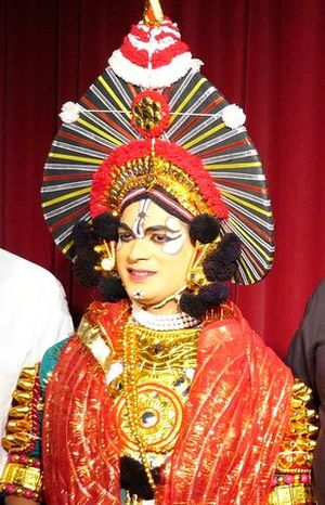Krishna in the Mahabharata - Krishna as depicted in Yakshagana from Karnataka which is based largely on stories of Mahabharata.