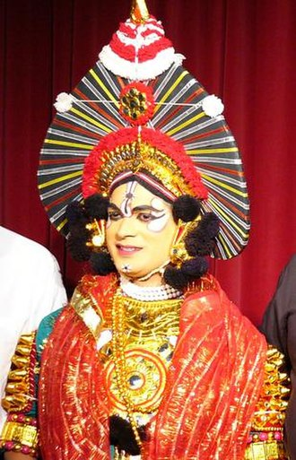 Shimoga district - A Yakshagana artist.