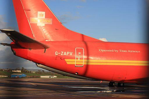 G-ZAPV Boeing 737-3Y0(F) (cn 24546 1811) Royal Mail (Titan Airways). (6532898533)