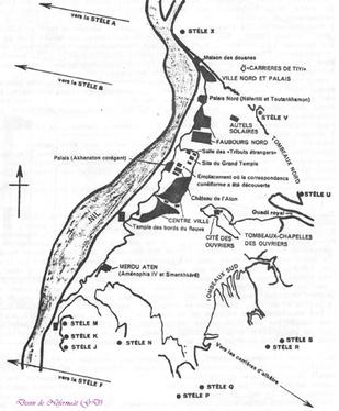 Plan de la ville nouvelle d'Akhetaton