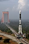 GSLV F11 GSAT-7A campaign- Vehicle roll out 02.jpg