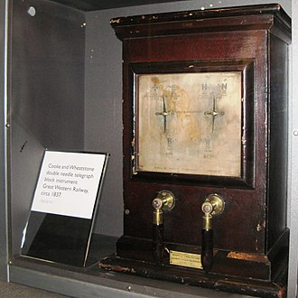 Cooke and Wheatstone telegraph - Cooke and Wheatstone's two-needle telegraph as used on the Great Western Railway
