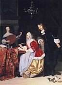 Gabriel Metsu - A Young Woman Composing Music and a Curious Man.JPG