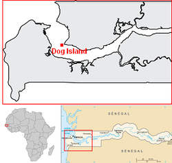 Gambia Dog Island location map.png