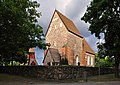 Gamla Uppsala kyrka klockstapel mur Sverige.jpg