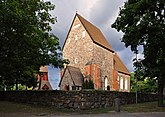 Fil:Gamla Uppsala kyrka klockstapel mur Sverige.jpg