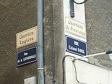 Signalisation bilingue en provençal alpin et en français à Gap