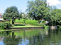 Gardens beside the River Nene in Wansford - August 2013 - panoramio.jpg