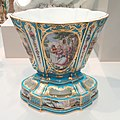 Garniture of Three Flower Vases, vase 1, c. 1761, Sèvres Porcelain Manufactory, painted by Andre-Vincent Veilliard - Art Institute of Chicago - DSC09453.JPG