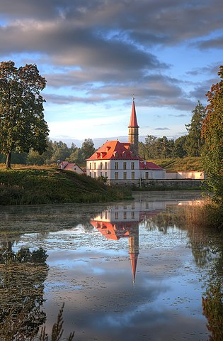 Priory Palace on the Black Lake in Gatchina