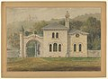 Gate Lodge for Amos G. Hull, Newburgh, New York (front elevation) MET DP855385.jpg