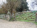 Gate entrance to Greatham Church - geograph.org.uk - 1764424.jpg