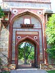 The Gate way of Arab Sarai facing North towards Purana Qila