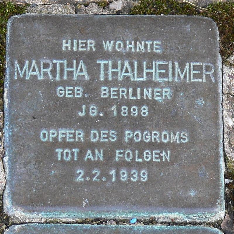 Gaukönigshofen Stolperstein Thalheimer, Martha.jpg