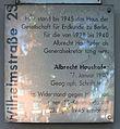 Gedenktafel Wilhelmstr 22 (Kreuz) Albrecht Haushofer.jpg