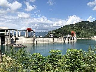 Geheyan Dam dam in Changyang Tujia Autonomous County, Hubei, China