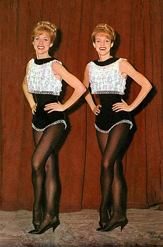 Kessler Twins - The Kessler Twins pictured on the Italian magazine TV Sorrisi e Canzoni in 1965