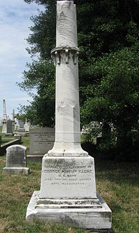 Monument to George M. Bache in the Congressional Cemetery in Washington, D.C.