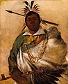 George Catlin - Téh-ke-néh-kee, Black Coat, a Chief - 1985.66.286 - Smithsonian American Art Museum.jpg
