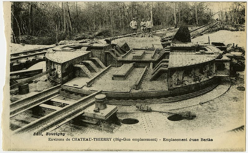 Fichier:George Eastman House - Bouvigny (French) - Emplacement d-une Bertha (pd).jpg