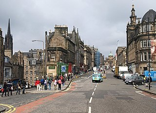 George IV Bridge road bridge in Edinburgh, United Kingdom