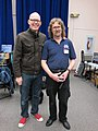 George Mattson and me, Pacific Northwest Synthfest 2011.jpg