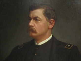 George B. McClellan - A portion of the Julian Scott portrait of McClellan in the National Portrait Gallery in Washington, D.C.