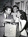 George Nader Andy Griffith Elinor Donahue Andy Griffith Show 1961.jpg