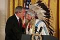 George W. Bush greets Benjamin Nighthorse Campbell.jpg