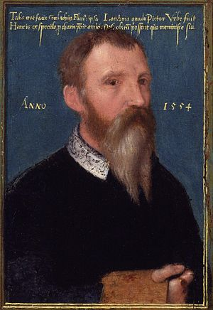 Gerlach Flicke - 1554 self-portrait