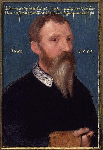 Gerlach Flicke - 1554 self-portrait