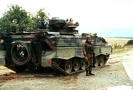 German KFOR armoured vehicle, 1999