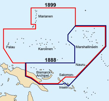 German New Guinea before and after the German-Spanish treaty of 1899 German new guinea 1888 1899.png