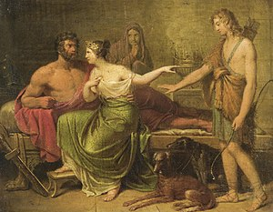 Hippolytus (son of Theseus) - Image: German school Hippolytus, Phaedra and Theseus