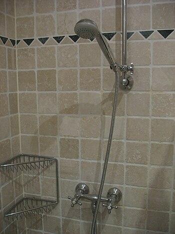 English: German shower tap