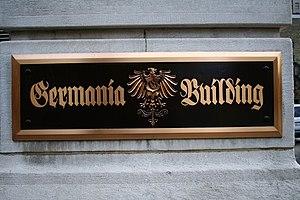 Germania Building - Germania Building Plaque