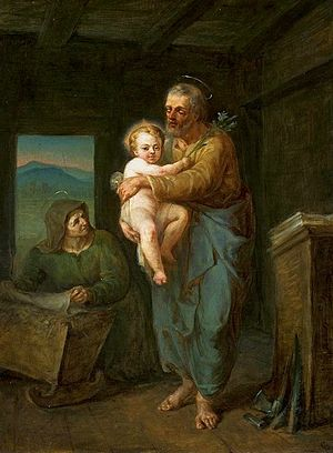 Saint Joseph with Jesus and Saint Anne