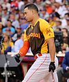Giancarlo Stanton competes in semis of '16 T-Mobile -HRDerby. (28468366102).jpg