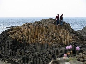 North Atlantic Igneous Province - Giant's Causeway – polygonal basalt pavement