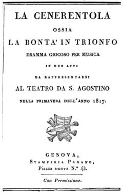 Gioachino Rossini - La Cenerentola - frontespizio del libretto - Genova 1817.png