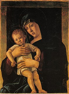 <i>Greek Madonna</i> painting by Giovanni Bellini in the Pinacoteca di Brera