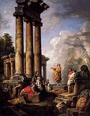 Ruins with Saint Paul preaching