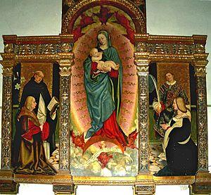 Gerolamo Giovenone - Madonna Lactans, (Trittico Raspa), 1516, oil on canvas, Trino, Vercelli, Italy.