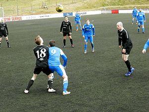 FC Hoyvík - Giza/Hoyvík vs. FC Suðuroy II in September 2012.