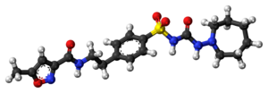 Glisoxepide - Image: Glisoxepide molecule ball